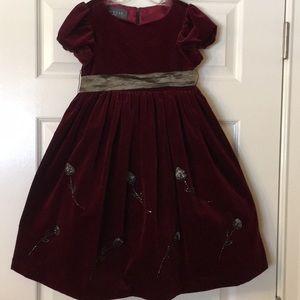 Biscotti Girls Holiday Velvet Dress